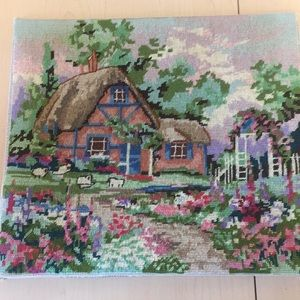 Other - Cottage Needlepoint Picture